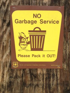 140426.NoGarbageServiceTrailheadSign